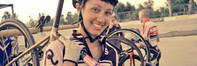 cyclist, encino velodrome, girls on bikes, biker chicks, fixedgear, fixiefamous, singlespeed, trackbike,